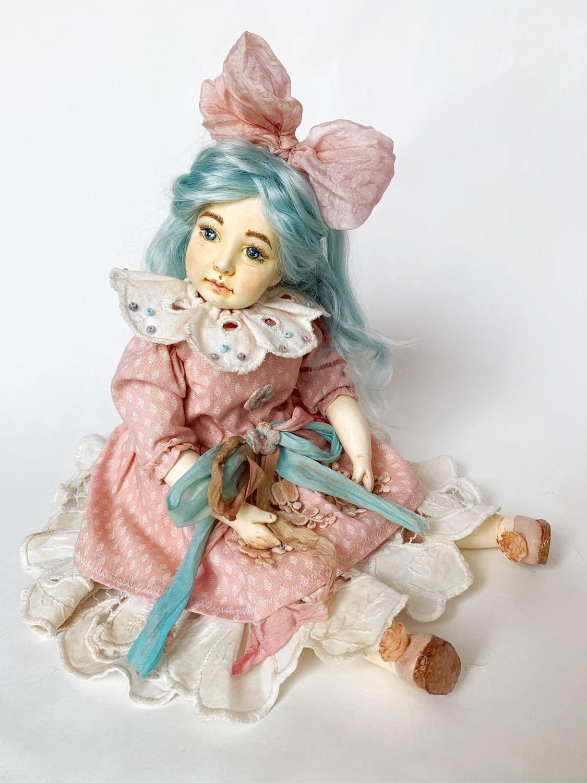 Мальвина. Фарфоровая кукла 33 см. Коллекция «Золотой Ключик», Будуарная кукла, Кемерово,  Фото №1