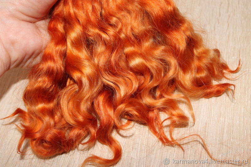 Hair for dolls SHORT (cognac) Curls Curls for Curls for dolls, dolls to buy Hair for dolls, buy Handmade Fair Masters