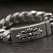 Украшения handmade. Livemaster - original item Silver bracelet with cross. Handmade.