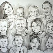 Картины и панно handmade. Livemaster - original item a portrait in pencil.. Handmade.