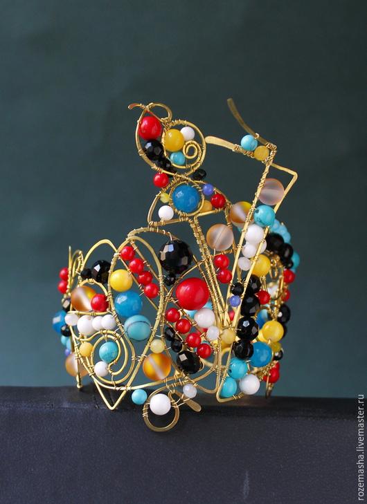 Колье, бусы ручной работы. Ярмарка Мастеров - ручная работа. Купить браслет  Metropolis. Handmade. Разноцветный, ар-нуво, будущее