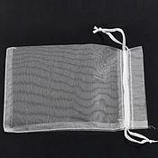Мешочки ручной работы. Ярмарка Мастеров - ручная работа Мешочек белый 8х8см. (органза). Handmade.