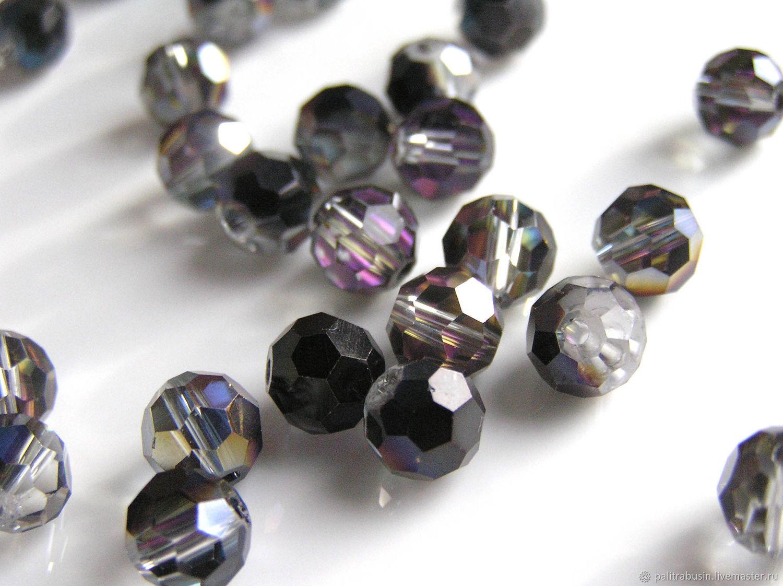 Beads: 7 mm cut glass balls, Beads1, Tyumen,  Фото №1