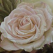 """Картины и панно ручной работы. Ярмарка Мастеров - ручная работа Авторская картина маслом """"Роза"""". Handmade."""