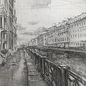 Картины и панно handmade. Livemaster - original item Streets of St. Petersburg, paper, graphite pencil. Handmade.