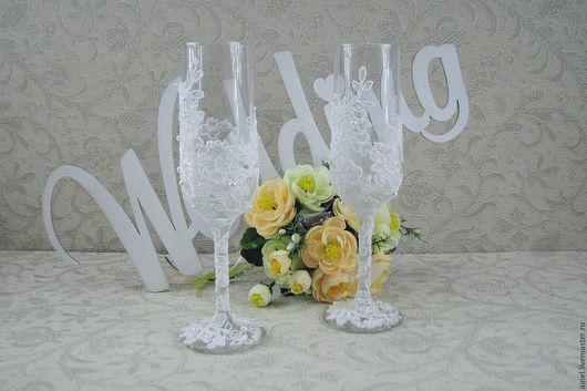 Бокалы свадебные «Неаполь» белый