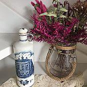 Винтаж handmade. Livemaster - original item Bottle for oil, balsam, Delft porcelain, Holland. Handmade.
