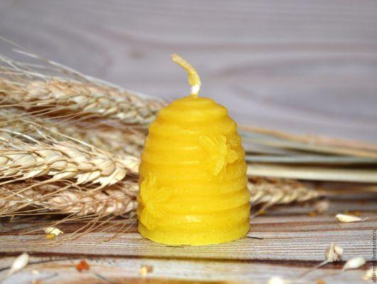 Свечи ручной работы. Ярмарка Мастеров - ручная работа. Купить Пчелиный улей - восковая свеча. Handmade. Восковая свеча