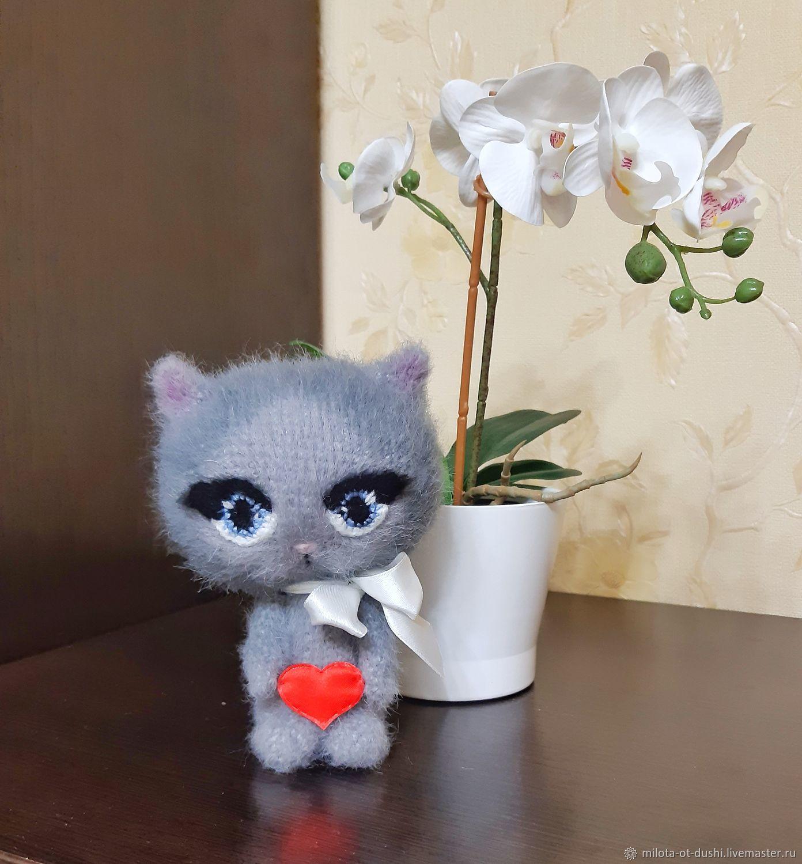 Котенок вязаная игрушка, Мягкие игрушки, Жуковский,  Фото №1