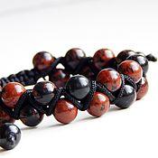 handmade. Livemaster - original item Bracelet of obsidian. Handmade.