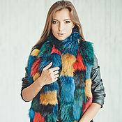 Аксессуары ручной работы. Ярмарка Мастеров - ручная работа Меховой шарф цветной. Handmade.