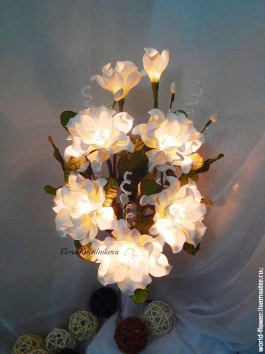 """Освещение ручной работы. Ярмарка Мастеров - ручная работа. Купить Букет-светильник  """"Облачко"""". Handmade. Цветы ручной работы, утонченность"""