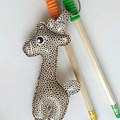 Аксессуары handmade. Livemaster - original item A copy of the work: Giraffe keychain genuine leather. Handmade.