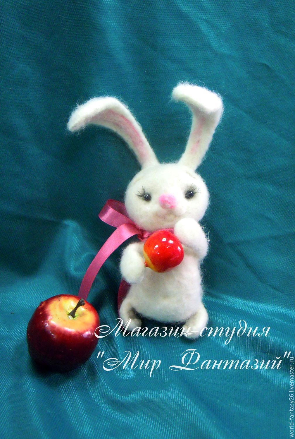 Mi Bunny with apple, Stuffed Toys, Ustyuzhna,  Фото №1