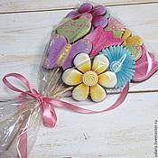 Сувениры и подарки ручной работы. Ярмарка Мастеров - ручная работа Букет из пряников  - цветы, бабочки, сердечки. Handmade.