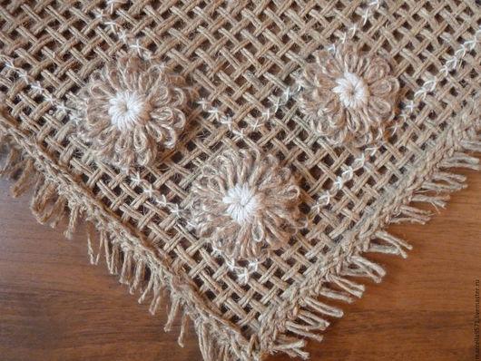 Текстиль, ковры ручной работы. Ярмарка Мастеров - ручная работа. Купить Салфетка тканая джутовая. Handmade. Тканая салфетка