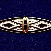Винтаж handmade. Livemaster - original item Brooch RUSSIAN GEMS, LENINGRAD, gold enamel SSR 1980x, new.. Handmade.