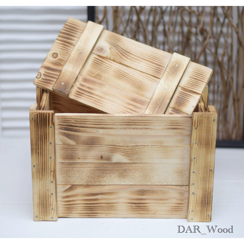 Деревянный ящик с крышкой для хранения, Ящики, Москва,  Фото №1