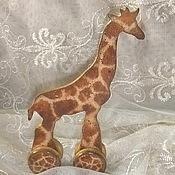 """Куклы и игрушки ручной работы. Ярмарка Мастеров - ручная работа Интерьерная игрушка """"Жираф"""". Handmade."""