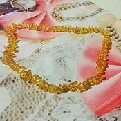 Работы для детей, handmade. Livemaster - original item beads: Amber beads baby for baby 30 cm. Handmade.