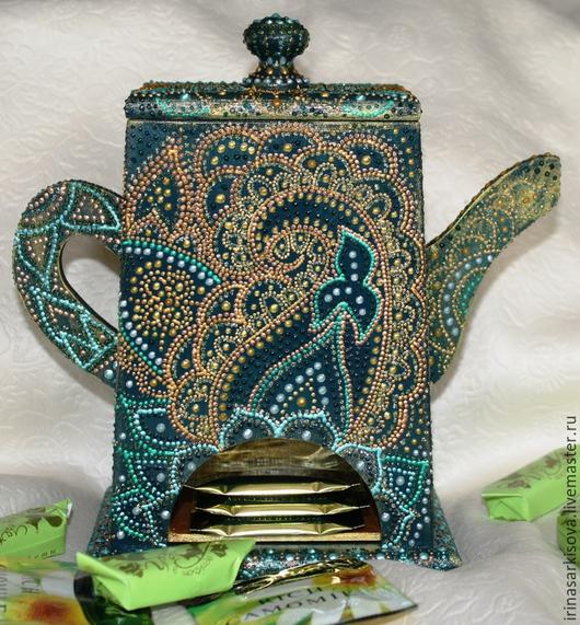 Чайники, кофейники ручной работы. Ярмарка Мастеров - ручная работа. Купить Домик для чайных пакетиков в виде чайника восточном стиле. Handmade.