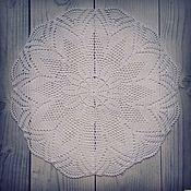 Для дома и интерьера ручной работы. Ярмарка Мастеров - ручная работа Салфетка кружевная №3 Белая. Handmade.