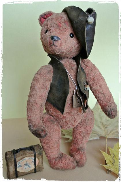 Мишки Тедди ручной работы. Ярмарка Мастеров - ручная работа. Купить Мишка Тедди Старый друг. Handmade. Коралловый