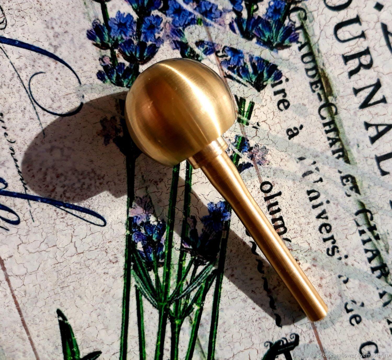 Круглая булька (полная сфера) для цветов 20мм, для шелка, Инструменты для украшений, Ижевск,  Фото №1