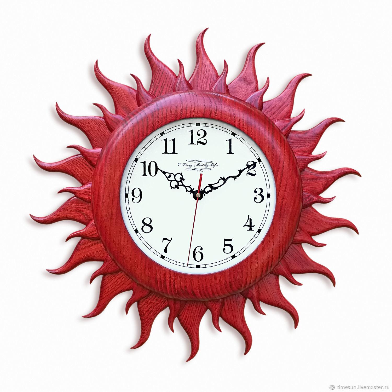 """Часы настенные """"Красное солнце"""" большие, Часы классические, Новочеркасск,  Фото №1"""