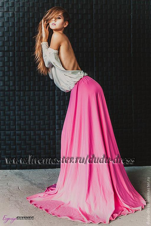 Платья ручной работы. Ярмарка Мастеров - ручная работа. Купить Двухцветное  платье в пол с ... 2d4657dff21b0