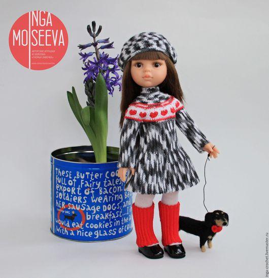 """Одежда для кукол ручной работы. Ярмарка Мастеров - ручная работа. Купить Наряд для куклы """"Сердечки"""". Handmade. Комбинированный, Вязание крючком"""