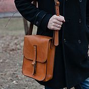 Сумки и аксессуары handmade. Livemaster - original item Bag mens leather tablet BONN. Handmade.