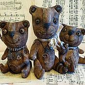 Куклы и игрушки ручной работы. Ярмарка Мастеров - ручная работа Три медведя. Примитивная игрушка. Чуденыши)))). Handmade.