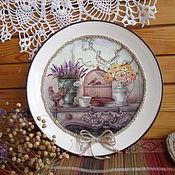 Картины и панно ручной работы. Ярмарка Мастеров - ручная работа Декоративная тарелка на стену Душистый прованс. Handmade.