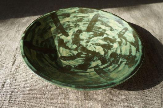 Тарелки ручной работы. Ярмарка Мастеров - ручная работа. Купить тарелка керамическая. Handmade. Зеленый, керамическая посуда, тарелки, тарелочки