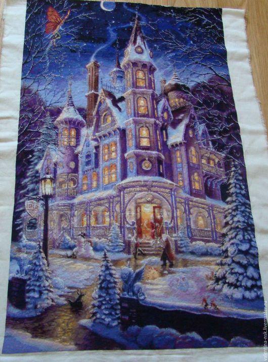 Пейзаж ручной работы. Ярмарка Мастеров - ручная работа. Купить Зимний замок. Handmade. Тёмно-синий, зимний замок, пейзаж
