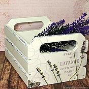 Для дома и интерьера handmade. Livemaster - original item Box-the box interior Lavender decoupage. Handmade.