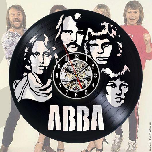 """Часы для дома ручной работы. Ярмарка Мастеров - ручная работа. Купить Часы из пластинки """"ABBA"""". Handmade. Abba, комбинированный, музыка"""