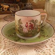 Винтаж ручной работы. Ярмарка Мастеров - ручная работа Редкая чайная пара, Вербилки, бывший Гарднер, 1920-е. Handmade.