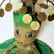 Статуэтка ручной работы. Ярмарка Мастеров - ручная работа Статуэтка  денежное дерево феншуй. Handmade.