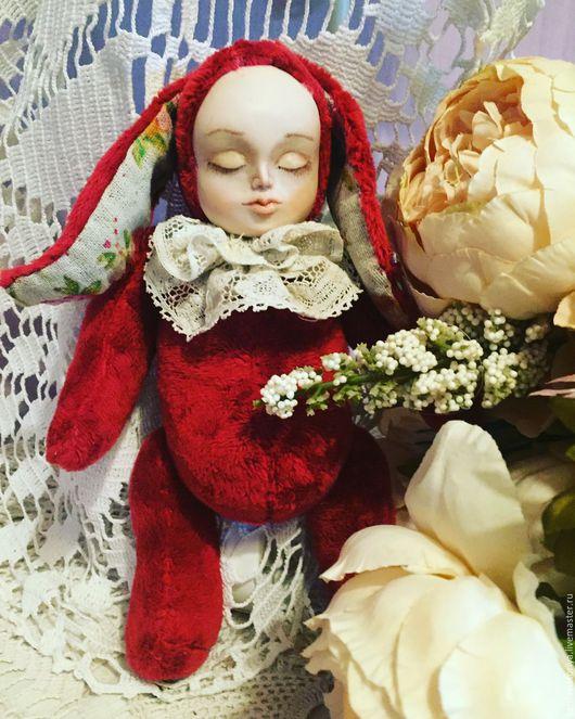 Куклы и игрушки ручной работы. Ярмарка Мастеров - ручная работа. Купить Теддидолл. Handmade. Бордовый, игрушка ручной работы, микрофибра
