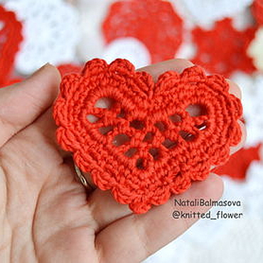 Materials for creativity handmade. Livemaster - original item Heart openwork knit. Handmade.