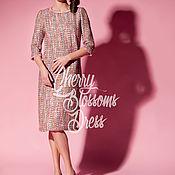 Одежда ручной работы. Ярмарка Мастеров - ручная работа Букле миди весеннее платье, большие размеры, ручная работа. Handmade.