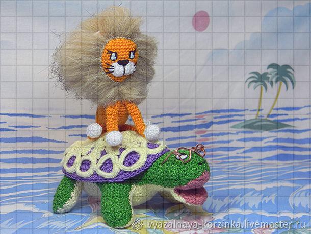 Набор вязаных игрушек «Львёнок и черепаха», Мягкие игрушки, Краснодар,  Фото №1