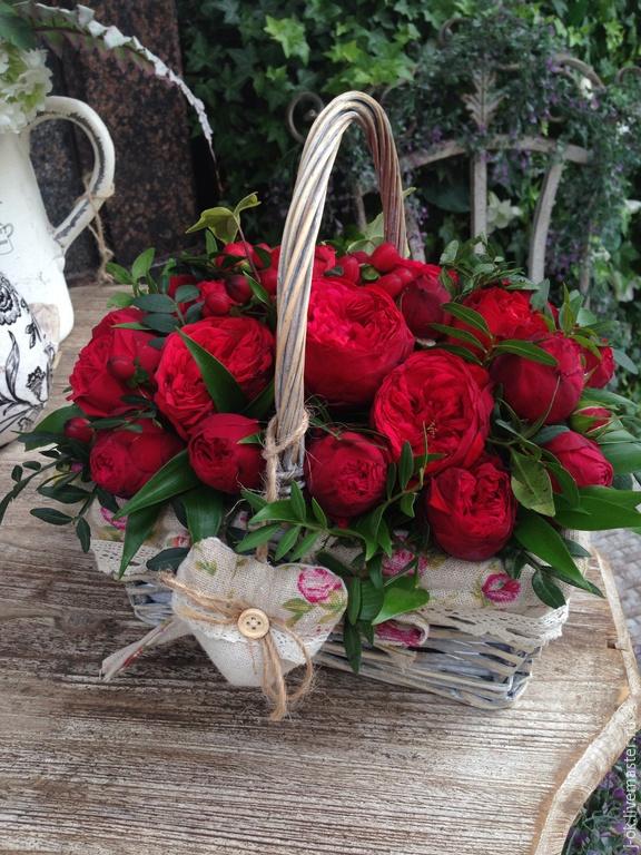 Корзинки роз цветов фото