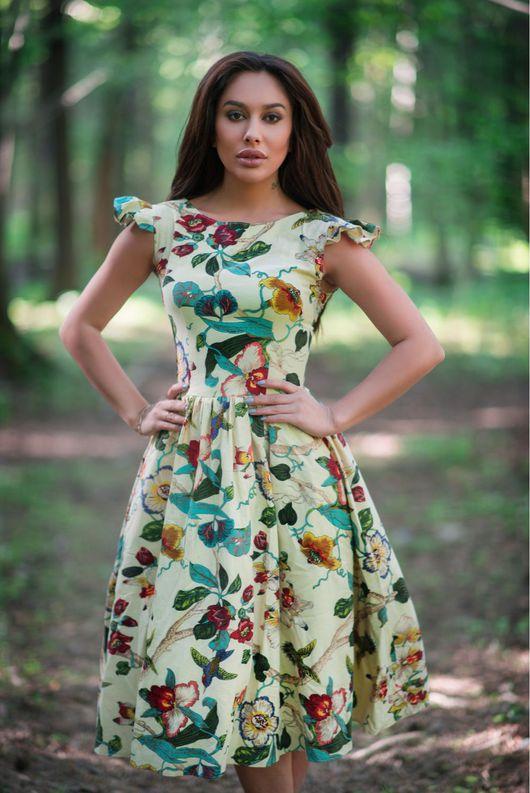 Платья ручной работы. Ярмарка Мастеров - ручная работа. Купить Платье. Handmade. Платье, платье для отдыха, Платье на весну