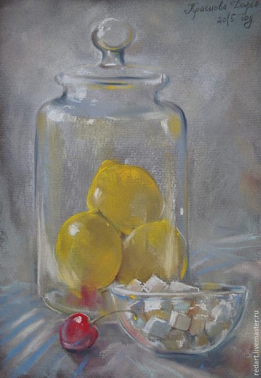 Натюрморт ручной работы. Ярмарка Мастеров - ручная работа. Купить Будет лимонад. Handmade. Белый, натюрморт с фруктами, натюрморт, стекло