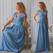 Одежда ручной работы. Ярмарка Мастеров - ручная работа Платье в пол Грация- длинное платье - летнее платье - платье в пол. Handmade.