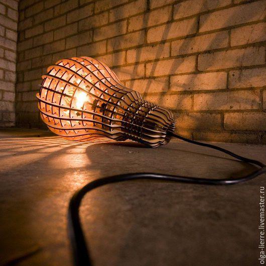 Освещение ручной работы. Ярмарка Мастеров - ручная работа. Купить Абажур деревянный в стиле Лофт. Handmade. Коричневый, подвесной светильник