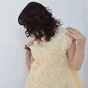 """Одежда ручной работы. Ярмарка Мастеров - ручная работа Жилет валяный """"Нежность ванили"""". Handmade."""